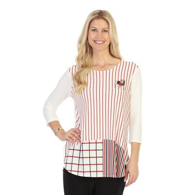 Georgia P. Michael 3/4 Sleeves Stripe Top