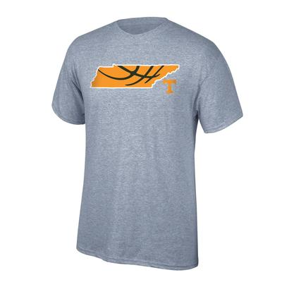 Tennessee Basketball in State Tee Shirt OXFORD