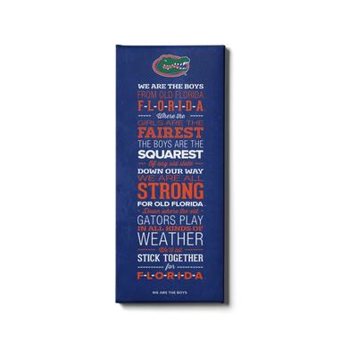 Florida 12x32 We Are the Boys Canvas