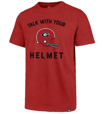 Georgia Football Talk With Your Helmet '47 Brand Club Tee