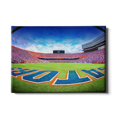 Florida 24x16 Swamp End Zone Canvas