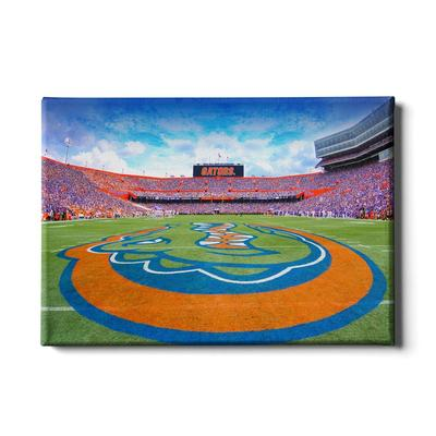 Florida 24x16 Gators Mid Field Canvas