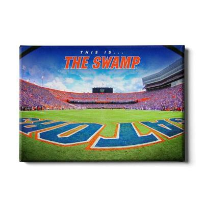 Florida 24x16 This is the Swamp End Zone Canvas