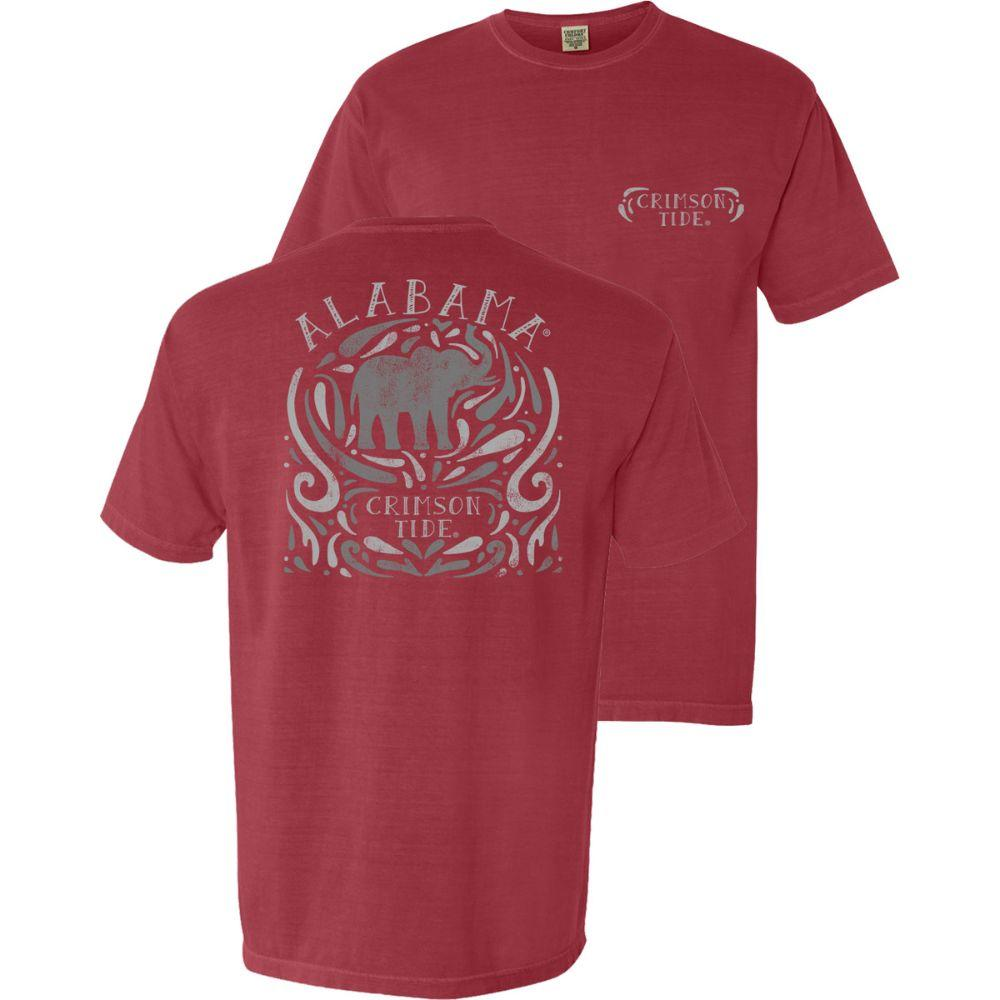 Alabama Swirl Stamp Comfort Colors Tee