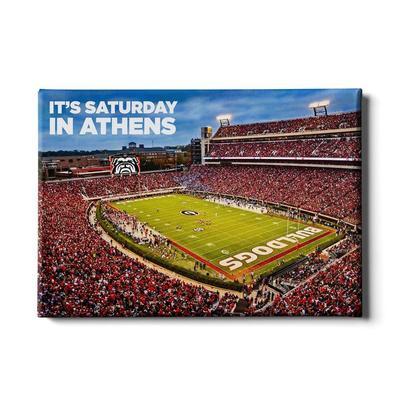 Georgia 24x16 It's Saturday in Athens Canvas