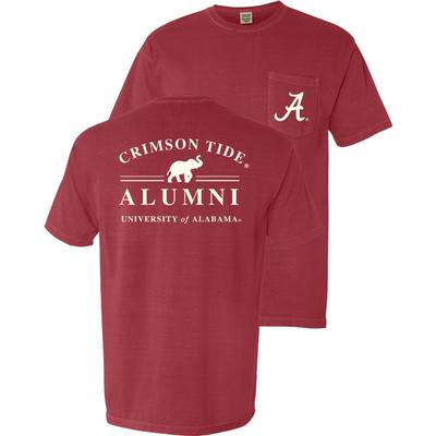 Alabama Alumni Comfort Colors Pocket Tee