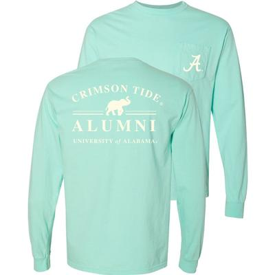 Alabama Alumni Comfort Colors Long Sleeve Pocket Tee