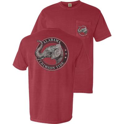 Alabama Vintage Circle Comfort Colors Pocket Tee
