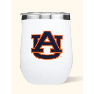 Auburn Corkcicle 12oz Stemless Wineglass