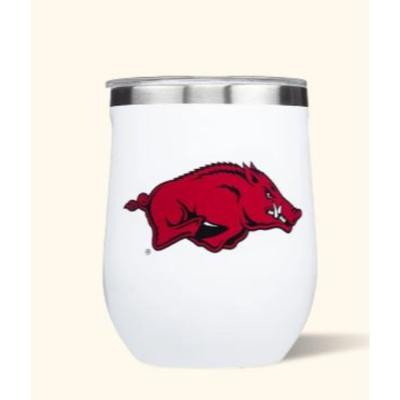 Arkansas Corkcicle 12oz Stemless Wineglass