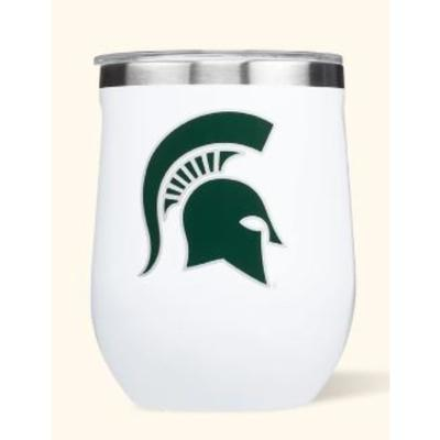 Michigan State Corkcicle 12oz Stemless Wineglass