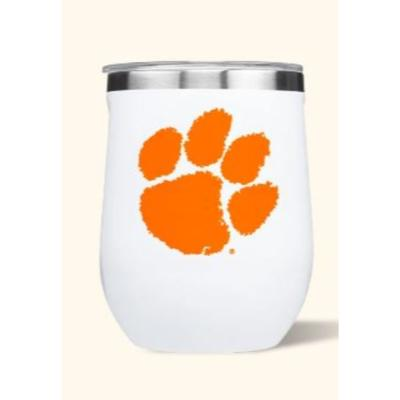 Clemson Corkcicle 12oz Stemless Wineglass