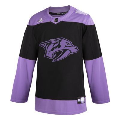 Nashville Predators Adidas Hockey Fights Cancer Jersey