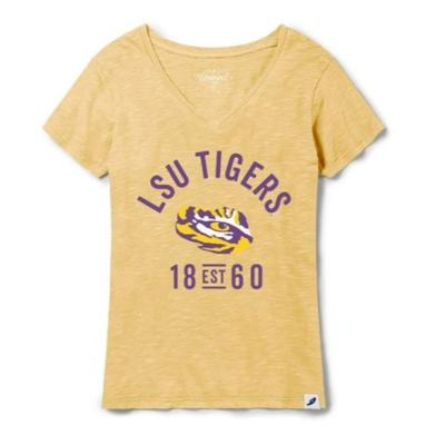 LSU League Women's Slub V-Neck
