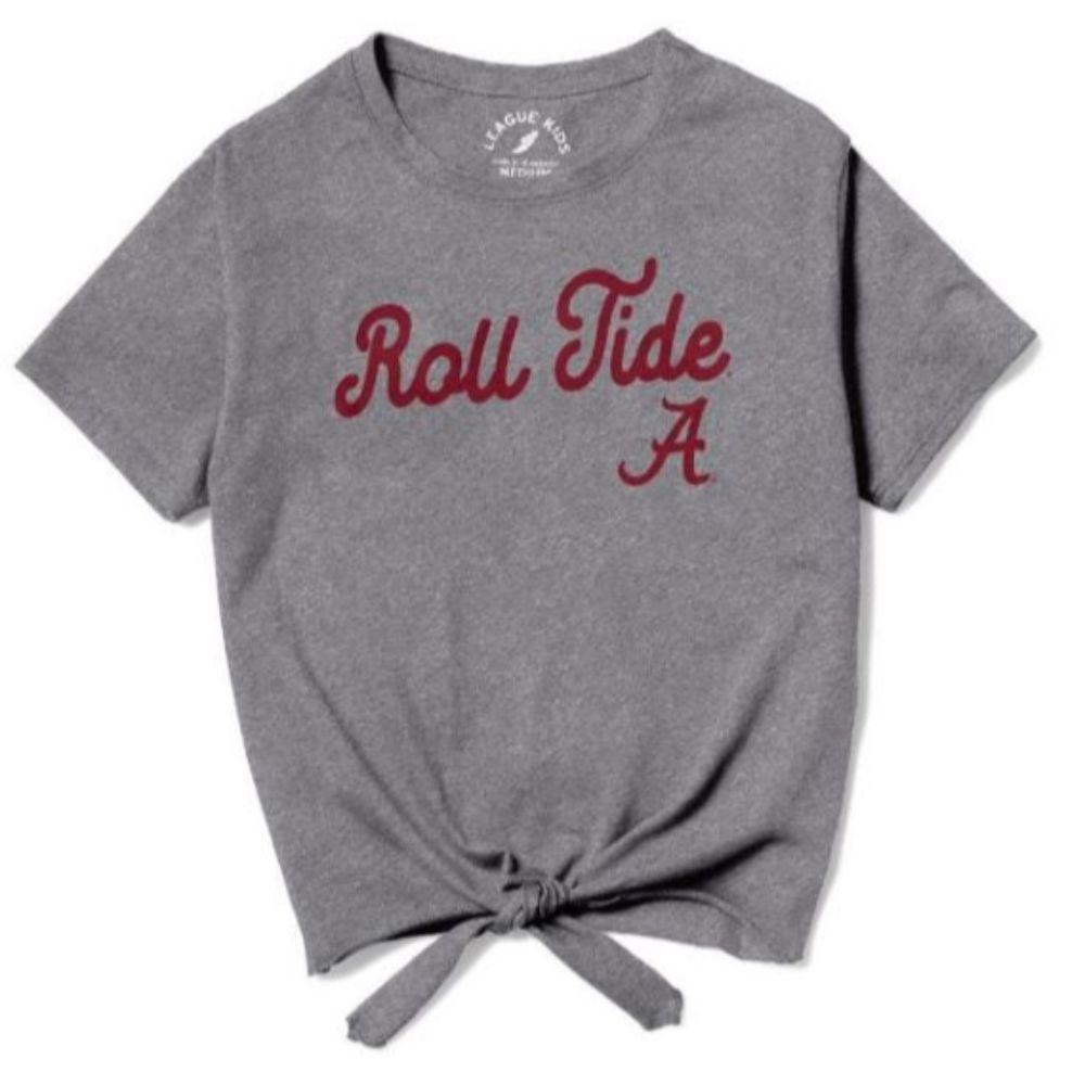 Alabama League Youth Girls ' Front Tie Tee