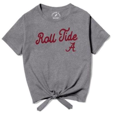 Alabama League Youth Girls' Front Tie Tee