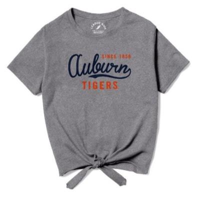 Auburn League Youth Girls' Front Tie Tee