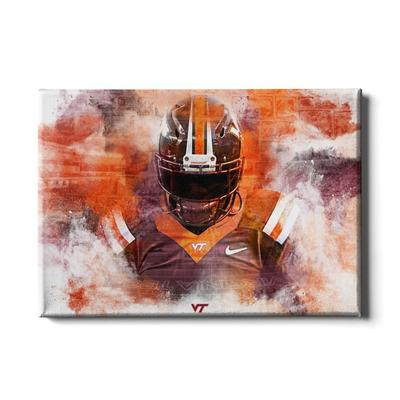 Virginia Tech Hokie Stone Abstract Canvas