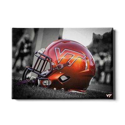Virginia Tech Orange Helmet Canvas