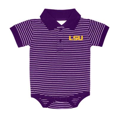 LSU Stripe Polo Creeper