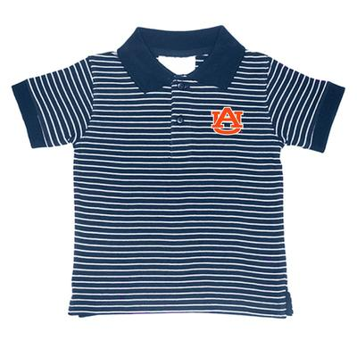 Auburn Toddler Stripe Polo
