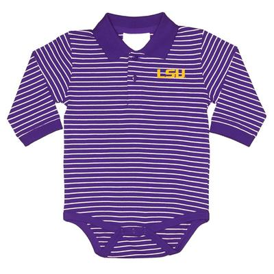 LSU Infant L/S Creeper
