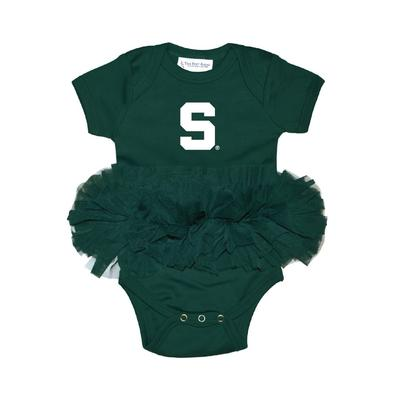 Michigan State Infant Tutu Creeper