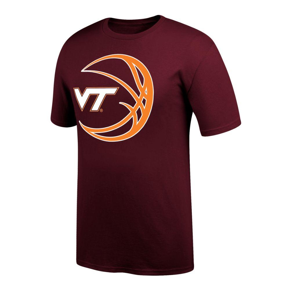 Virginia Tech Vt Logo In Basketball Tee Shirt