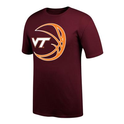 Virginia Tech VT Logo in Basketball Tee Shirt