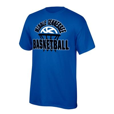 MTSU Youth Arch with Basketball in Net Tee Shirt