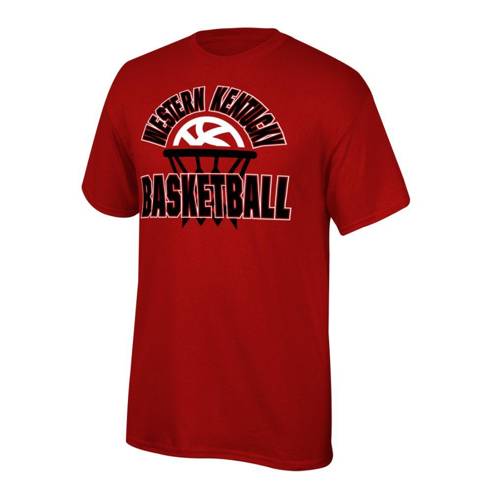 Western Kentucky Youth Arch With Basketball In Net Tee Shirt
