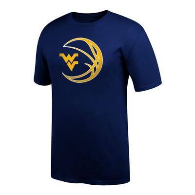 West Virginia WV Logo in Basketball Tee Shirt