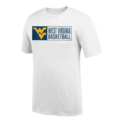 West Virginia Bar Logo Basketball Tee Shirt WHITE