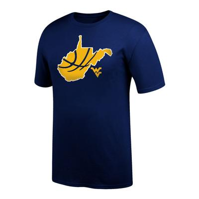 West Virginia Basketball in State Tee Shirt