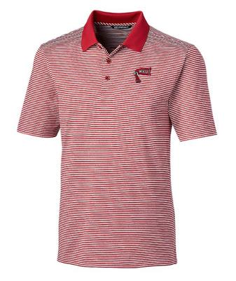 Western Kentucky Cutter And Buck Tonal Stripe Forge Retro Logo Polo