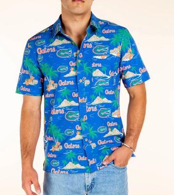 Florida Tellum And Chop Palm Island Printed Hawaiian Shirt