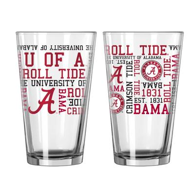 Alabama 16oz Spirit Pint Glass