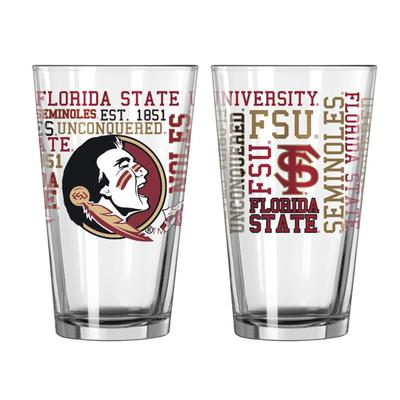 FSU 16oz Spirit Pint Glass