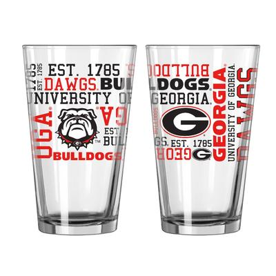 Georgia 16oz Spirit Pint Glass