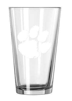 Clemson 16oz Satin Etch Pint Glass