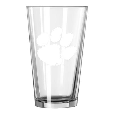 Clemson 16oz Satin Etch Pint Glass