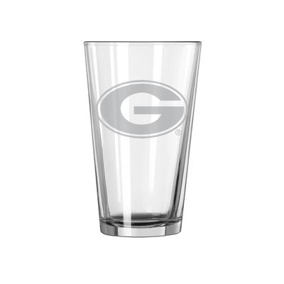 Georgia 16oz Satin Etch Pint Glass