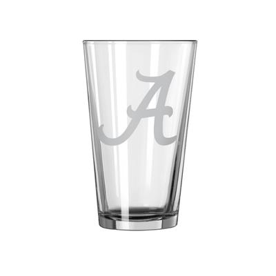 Alabama 16oz Satin Etch Pint Glass