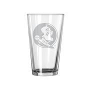 Fsu 16oz Satin Etch Pint Glass