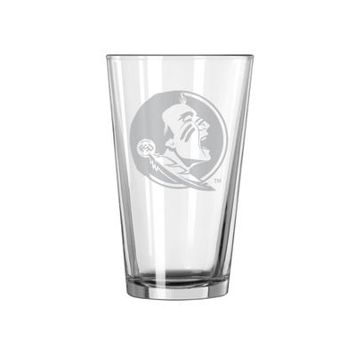 FSU 16oz Satin Etch Pint Glass