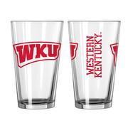 Western Kentucky 16oz Gameday Pint Glass