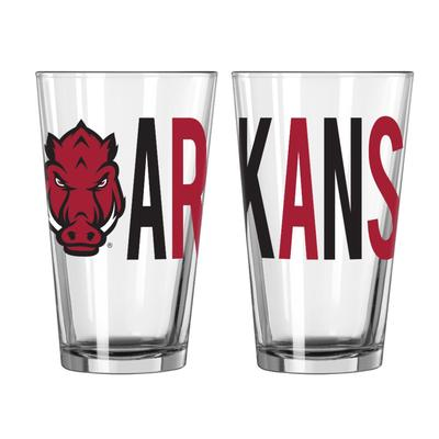 Arkansas 16oz Overtime Pint Glass