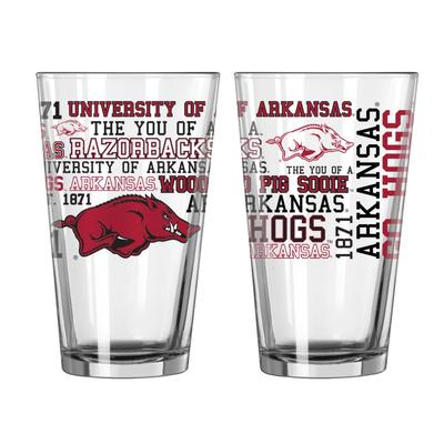 Arkansas 16oz Spirit Pint Glass