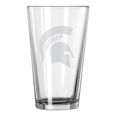 Michigan State 16oz Satin Etch Pint Glass