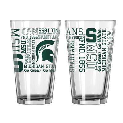 Michigan State 16oz Spirit Pint Glass